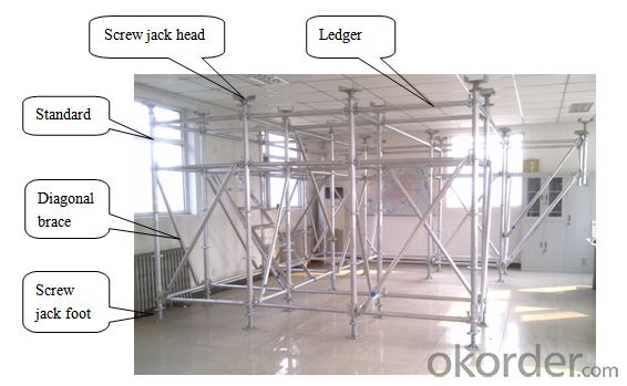 Convenient Ring - Lock Scaffolding System For Industrial, Civil Buildings
