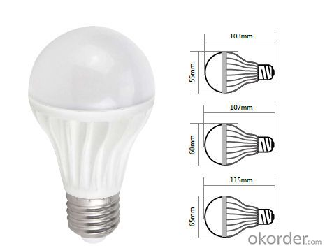 Led bulb light A65 E27 led ningbo light bulb