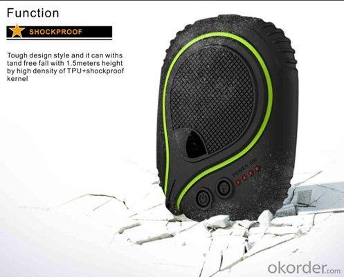 7800mAh Waterproof Power Bank with Dustproof Shockproof Function