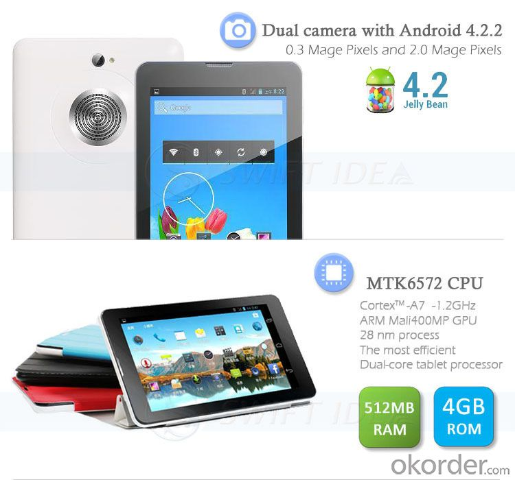 Big Loud Speaker 7 Inch 3G Android Tablet PC (PMD724L)