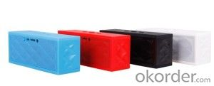 Jambox Style Mini Bluetooh Speaker with Rechargeable Battery with Handsfree Mic