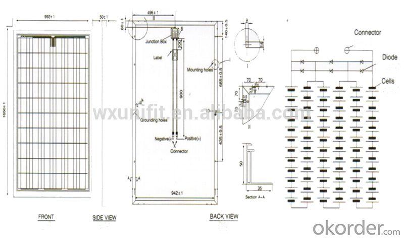Flexible Solar Panel&Poly Solar Module 250w