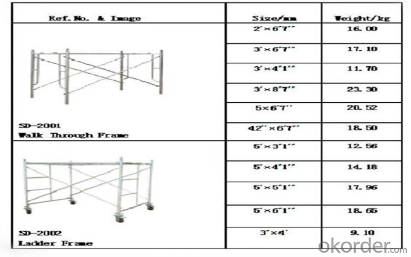 H Frame Steel Scafolding For African Market