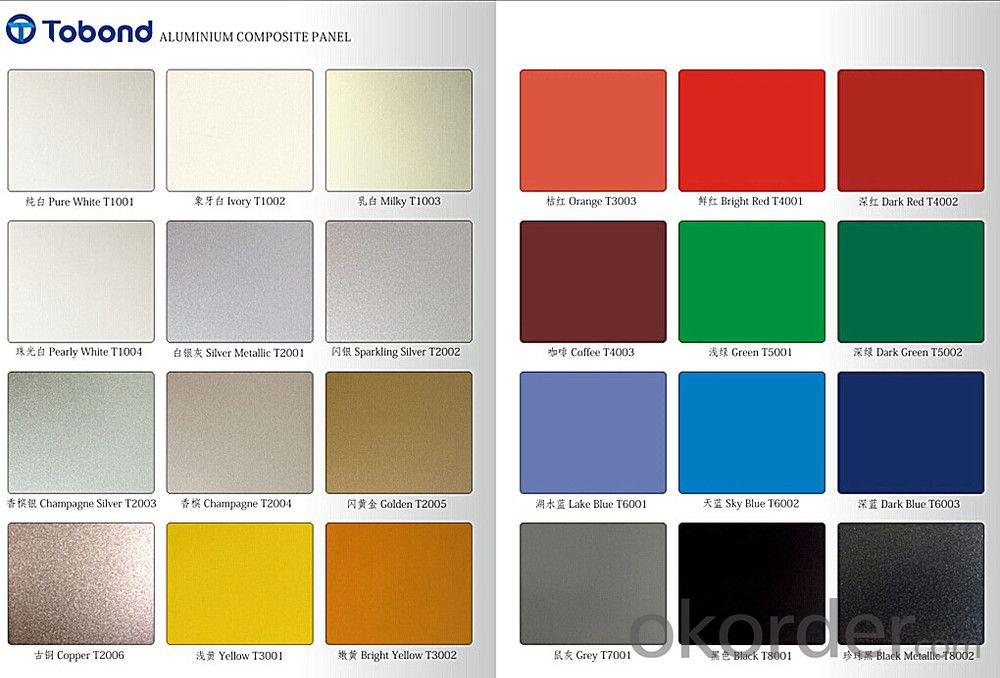 TOBOND aluminum/interior wall metal panel/ decorative panel/brick wall tiles/polyurethane panel/ACP