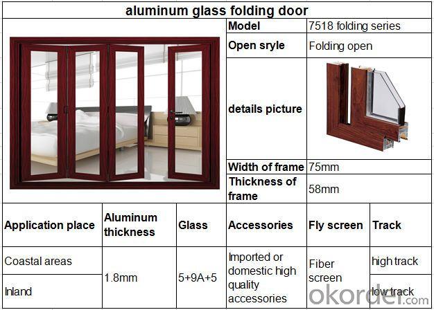 Hot products Aluminium folding door Aluminium windows and doors