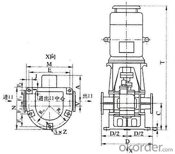 General Purpose Pumping LYB vertical arc gear pump oil pump