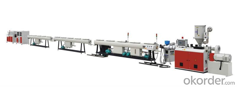 PE pipe extruder production line
