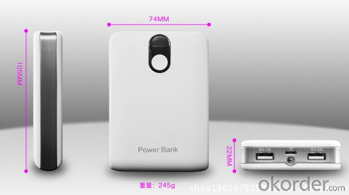 Mobile Backup Power, Portable Power Bank for Smartphones Laptops Tablet PC