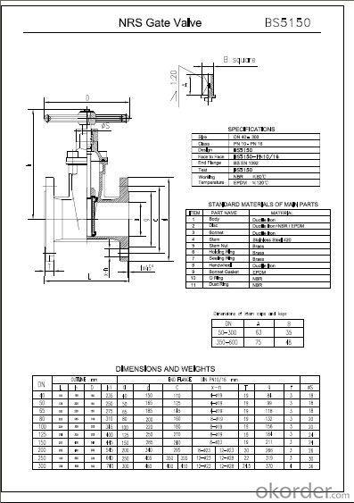 BS5136/5150 Ductile Iron Gate Valve