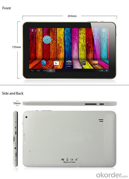 9 Inch WiFi Dual Core Dual Camera Tablet PC M920