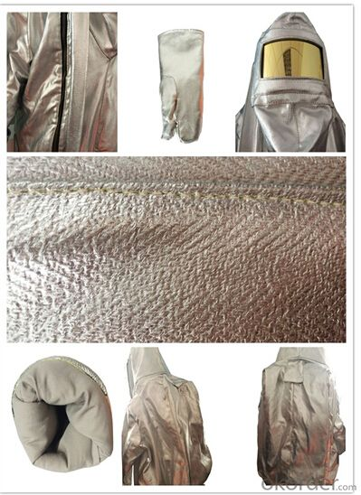 aluminium fire suits anti fire clothing