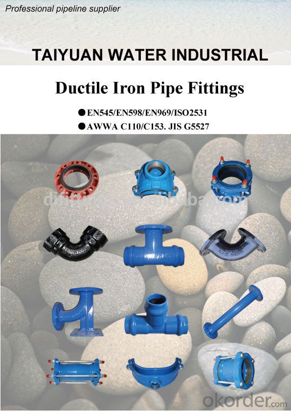 TAWIL EN545/ISO2531 China ductile cast iron fittings bend/elbow with flange