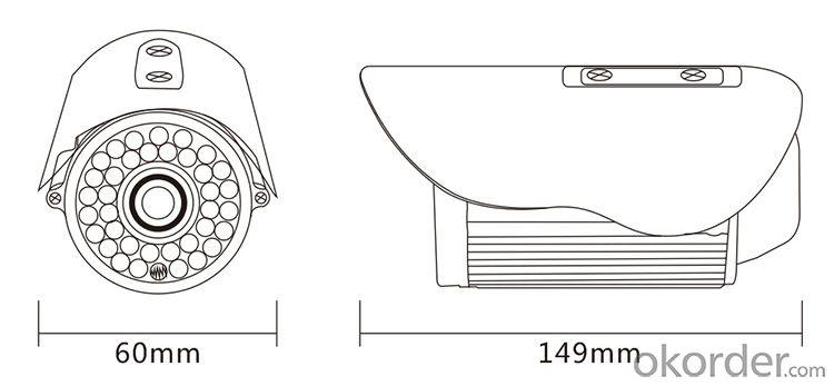 Smart-i SHD-2013 IP66 800/900TVL 1/3''CMOS Infrared 36IR LED Bullet CCTV Camera