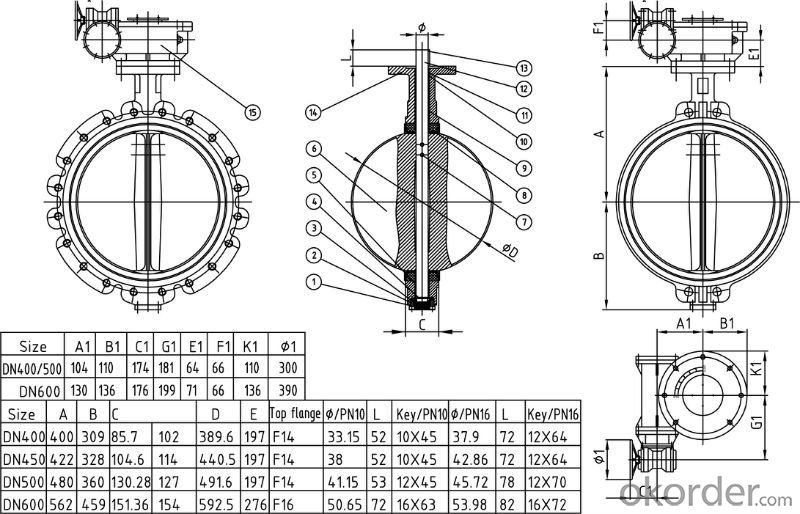 ductile iron butterfly valve Tianjin