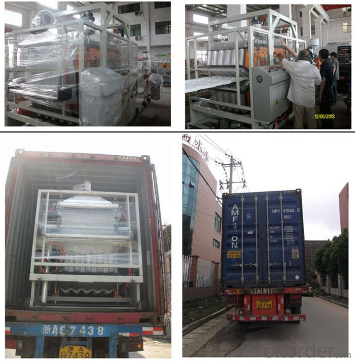 2014 PC sheet production line/single-layer multi-layer PE/ABS/PMMA/PS sheet making machine