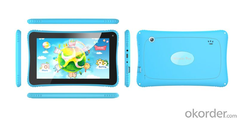 Cute Kids 7 Inch Tablet PC with Dual Core Children Android 4.2