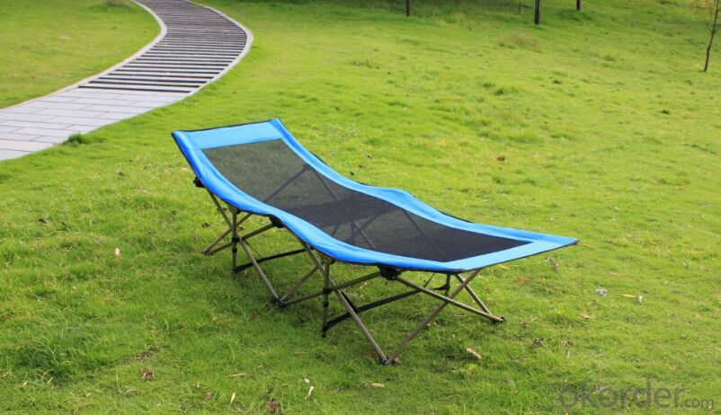 Patio Portable Aluminum  Folding Bed Garden Sleeping and Sitting