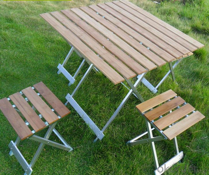 Folding Garden Portable Aluminum Picnic Chair Patio Table
