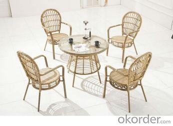 Round Rattan Wicker Furniture Garden Dining Set Rattan Outdoor Furniture