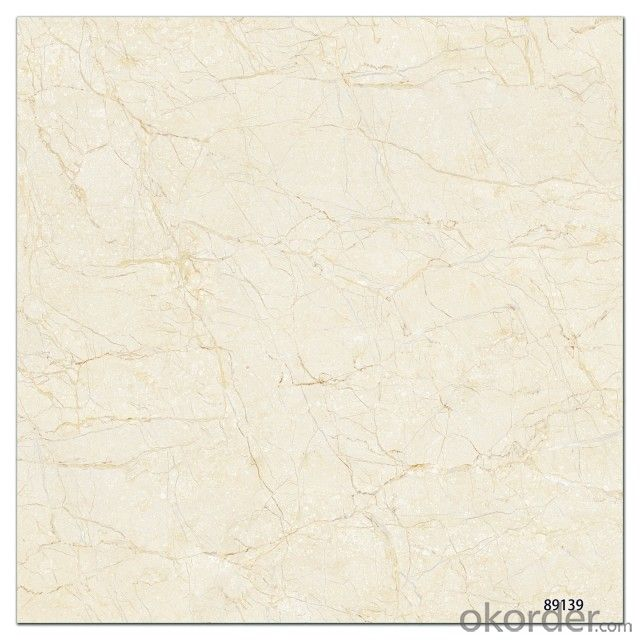 Polished Glazed Porcelain Tile The Yellow Color CMAXSB 6667