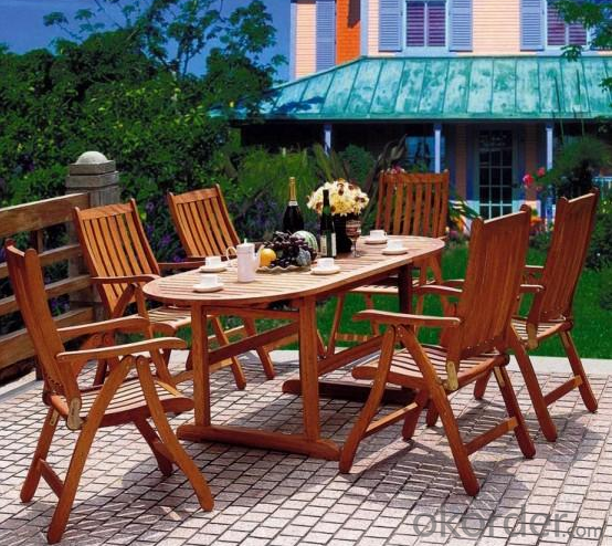 Patio Round Table Top Outdoor Plastic Wood Table Garden