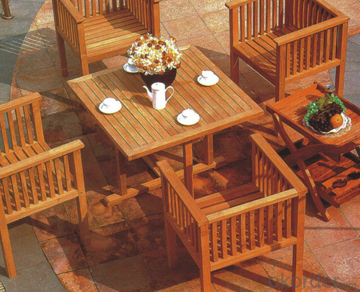 Poly Wood Round TableOutdoor Furniture Patio Teak Wood Garden Furniture