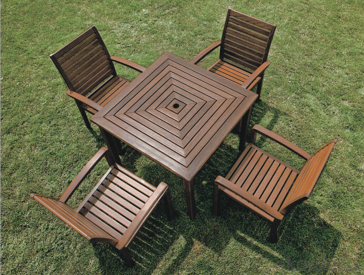 Poly Wood Round Table top Outdoor Plastic Wood Chair