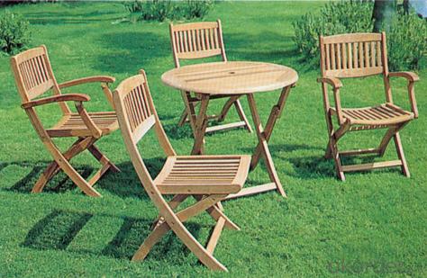 Patio Round Table Top Outdoor Plastic Wood Table Garden