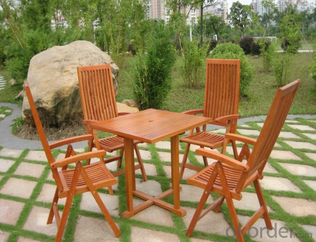 Outdoor Furniture Wood Sun Lounge with Cushion for Garden