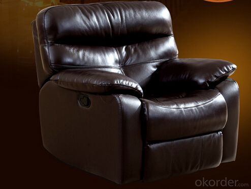 Leather Sofa,Modern Recliner Sofa, Manual Recliner