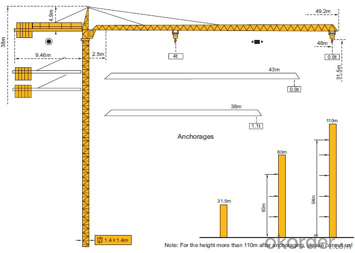 Tower Crane Sizes : Buy tower crane new cmax tc chinese maufacturer price