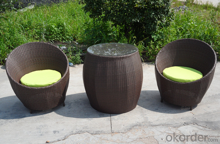 Wicker Patio Rattan Sofa  Chair and Table  for Outdoor Garden