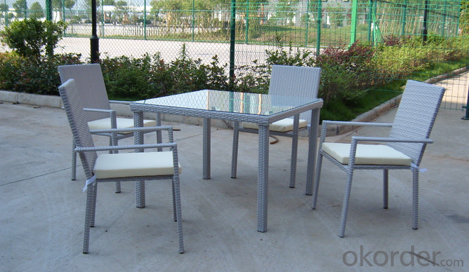 Patio Rattan  Chair and Table  for Wicker Outdoor Chair Garden