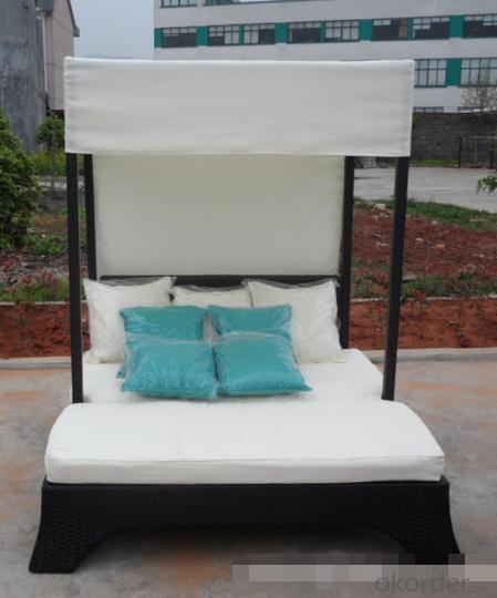 Garden Wicker Swing Chair  Patio Aluminum Frame PE Rattan Outdoor
