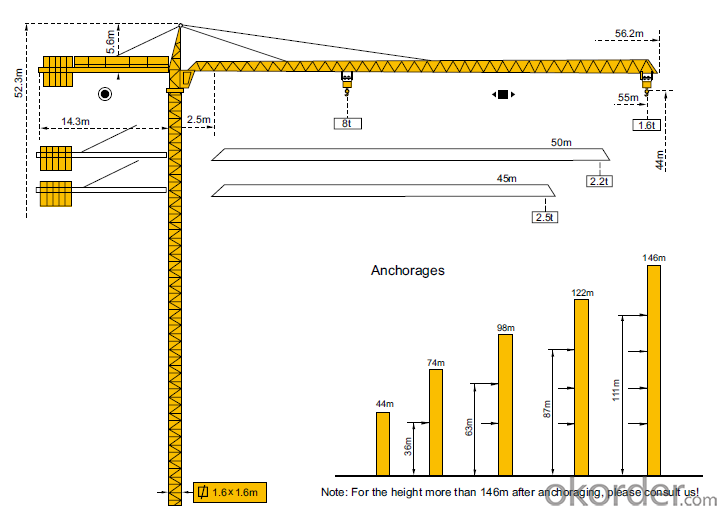 Tower Crane TC5516 Construction Equipment Wholesaler Sales