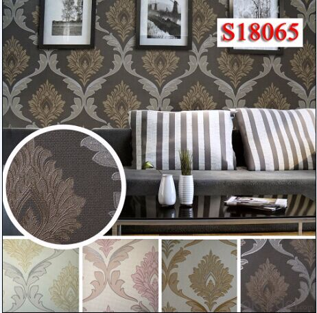 PVC Wallpaper 2015 Famous Modern Style Project Wallcovering