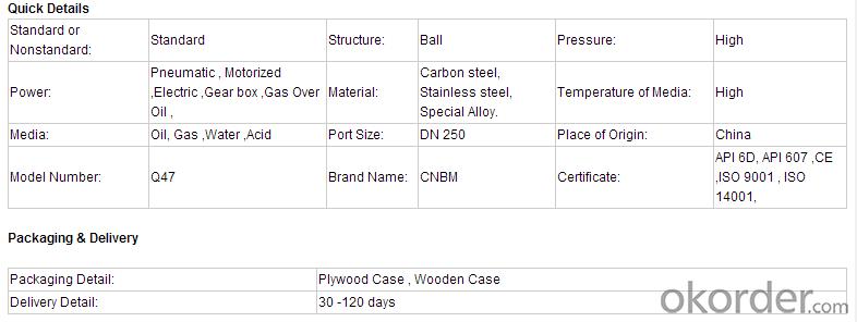 Electric Ball Valve Side Entry Design, Top Entry Design
