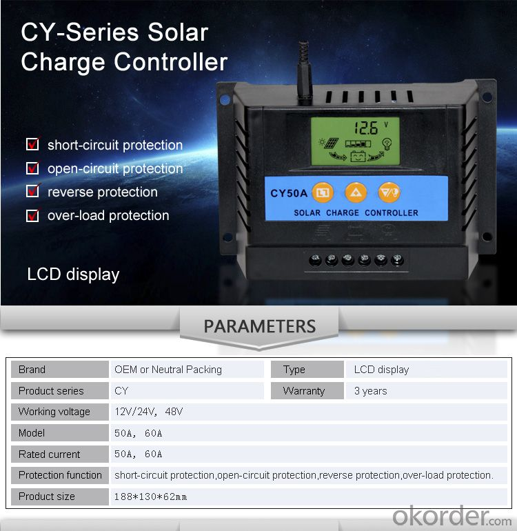 HOT SELLING Solar Controller CY50A with best priceCY50A
