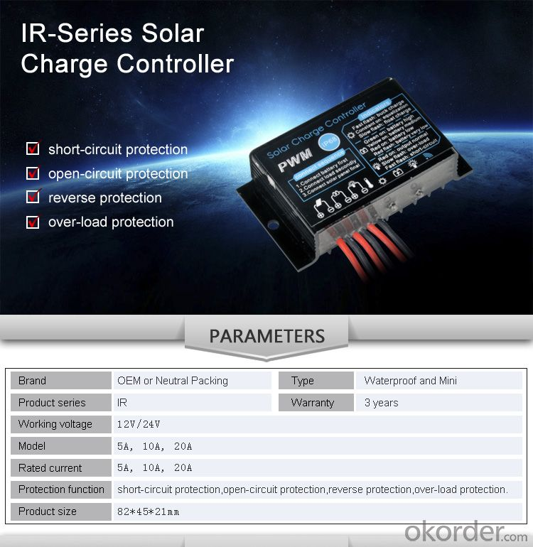 Solar Controller with Best Price Hot Selling Model IR210