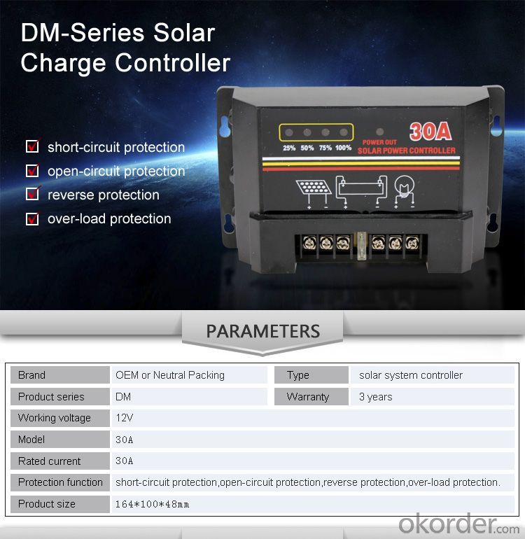 Solar Controller with Best Price Hot Selling Model DM130A