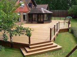 Waterproof Hollow Outdoor WPC Decking Made In China