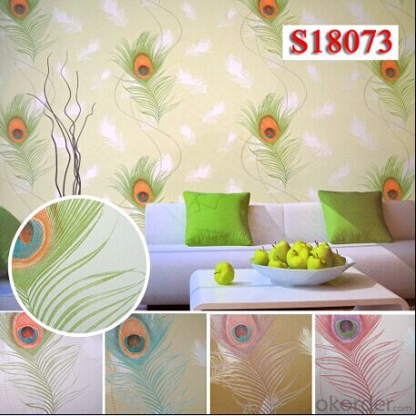 PVC Wallpaper New Designs Eco-friendly Natural Wallpapers For Home Decoration