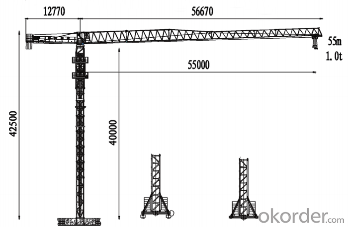 PT5510 tower crane with CE ISO certificate