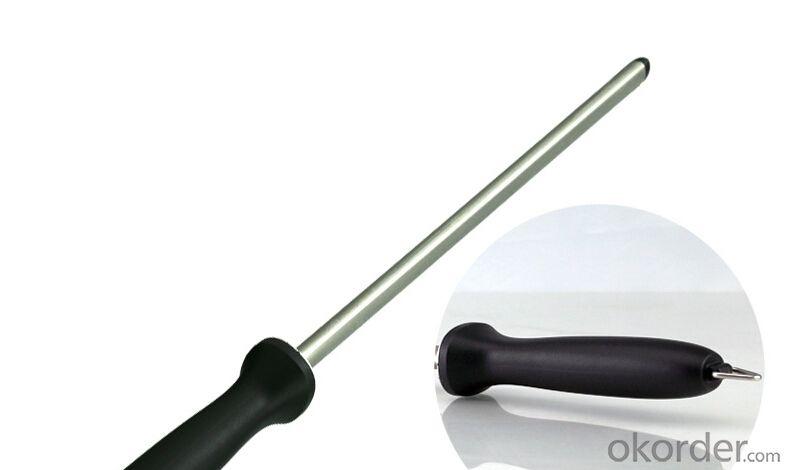 10'' Stainless Steel Rod Sharpener for Kitchen Knives