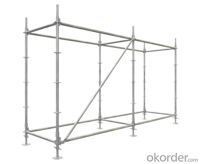 Construction Ringlock Scaffolding Q235/345 Steel Galvanized