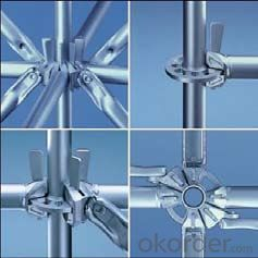 Galvanized Scaffold Round Lock Standard Vertical Pipe