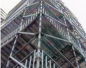 Ring Lock Mobile Scaffolding in Construction