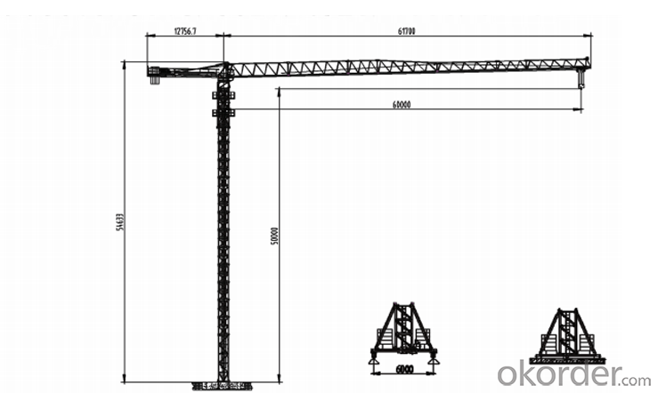 PT60 topless tower crane with competitive price