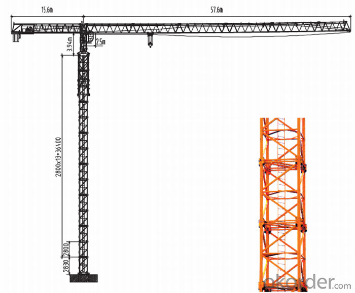 Tower Crane Requirements : Buy t tower crane construction machinery