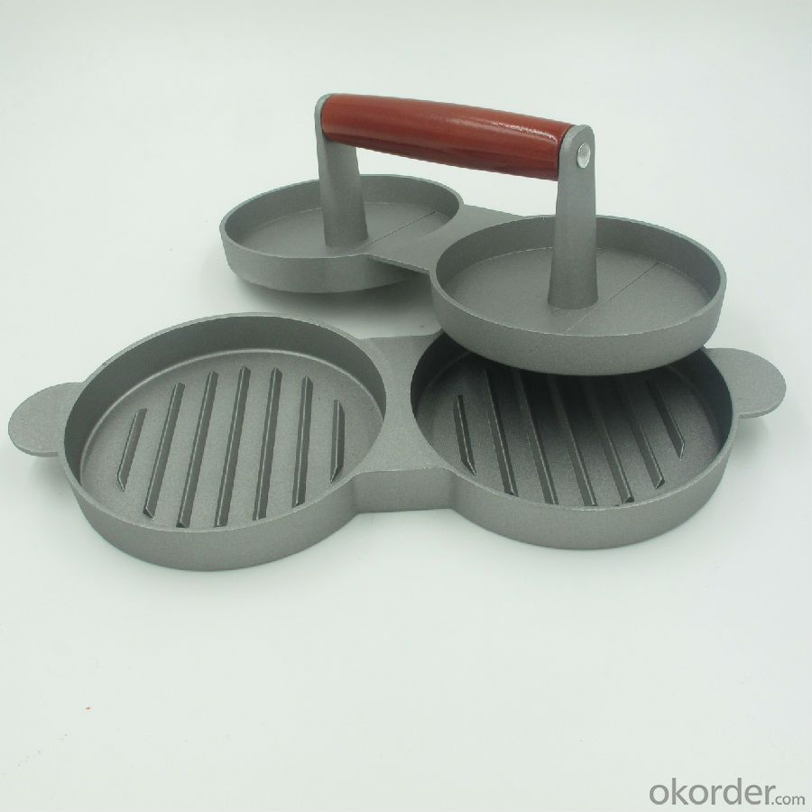 Double Metal Aluminium Hamburger Press for Easily Making Burger Two Sections